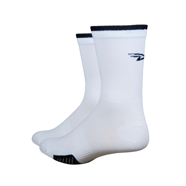 DeFeet Socken Cyclismo Thermocool Weiß / Schwarz, S