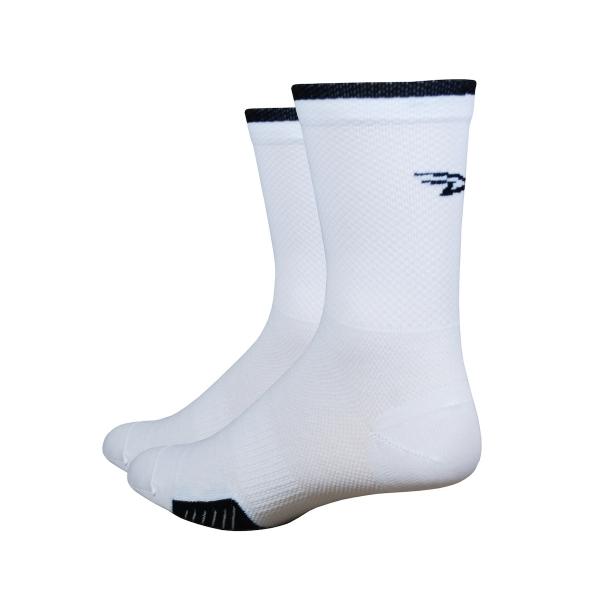 DeFeet Socken Cyclismo Thermocool Weiß / Schwarz (13 cm)