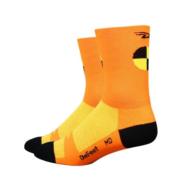 DeFeet Socken Aireator Doppel-Bund Crash Test Neon Orange (13 cm)