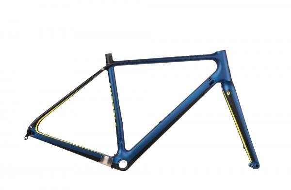 Accent Gravel Bike Rahmen Feral Carbon, Blau
