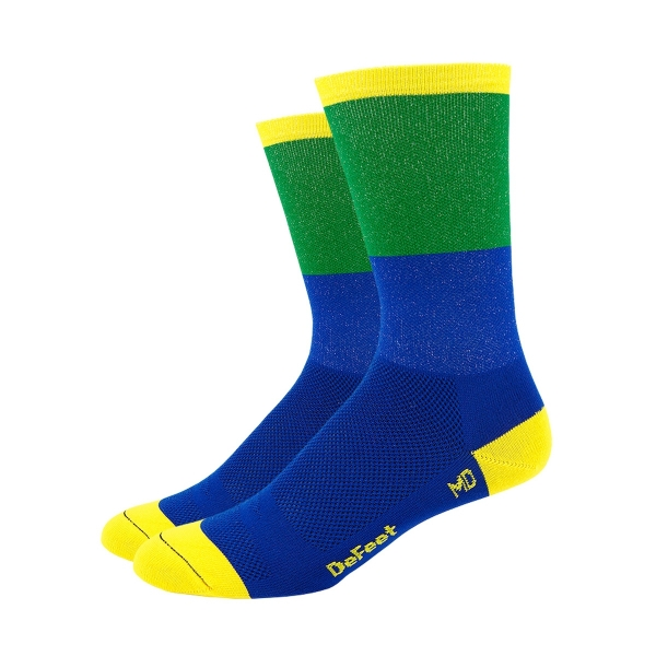 DeFeet Sportsocken Aireator Barnstormer Collection Blockhead Blau / Grün, S (15 cm)