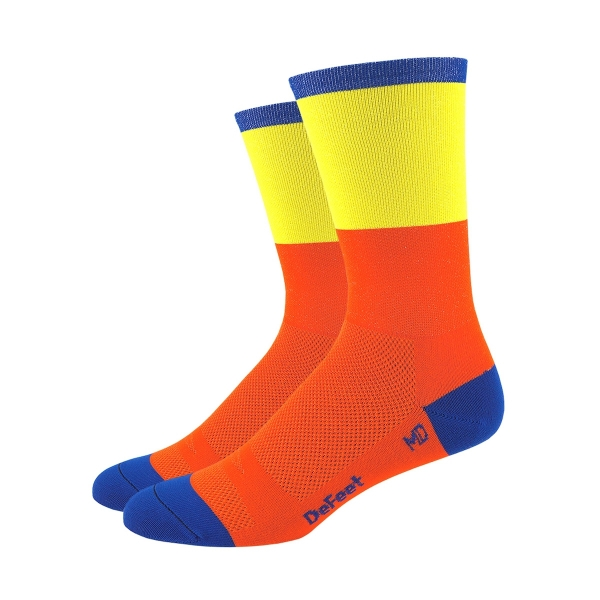 DeFeet Sportsocken Aireator Barnstormer Collection Blockhead Orange / Gelb, S (15 cm)