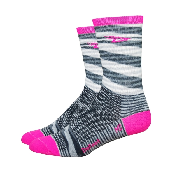 DeFeet Socken Aireator Single-Bund D-Logo Pink (13 cm)