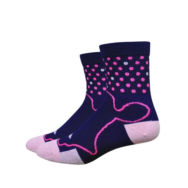 DeFeet Socken Levitator Trail Speck Blau / Pink, M