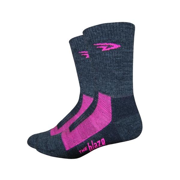 DeFeet Socken Blaze Neon Pink, L