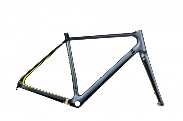 Accent Gravel Bike Rahmen Feral Carbon, Grau, S