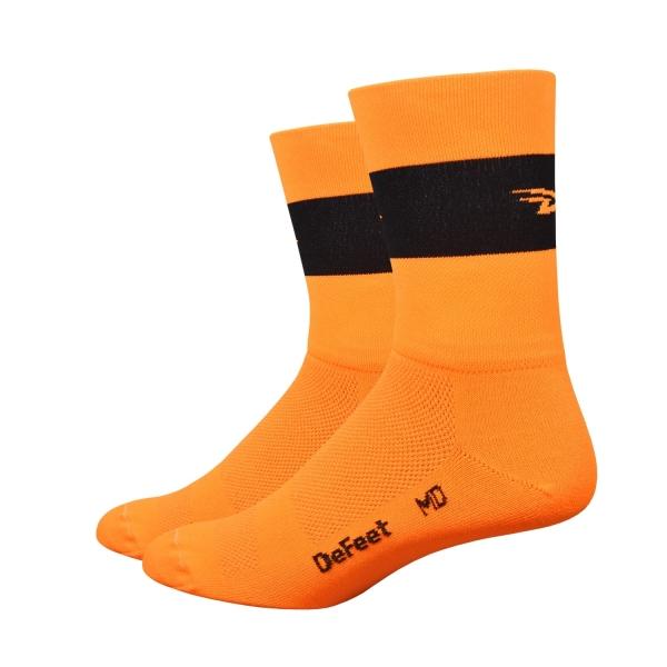 DeFeet Sportsocken Aireator Doppel-Bund Team DeFeet Neon Orange, S, (13 cm)