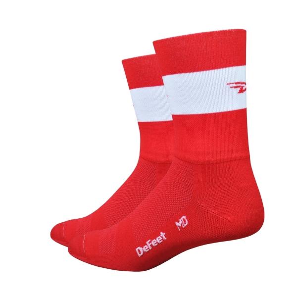 DeFeet Socken Aireator Doppel-Bund Team DeFeet Rot (13 cm)