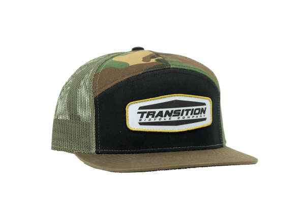 Transition Bikes Cap Patch Trucker Hat Camouflage