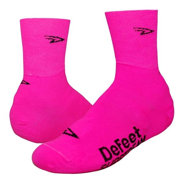 DeFeet Überschuhe Slipstream D-Logo Neon Pink (10 cm)